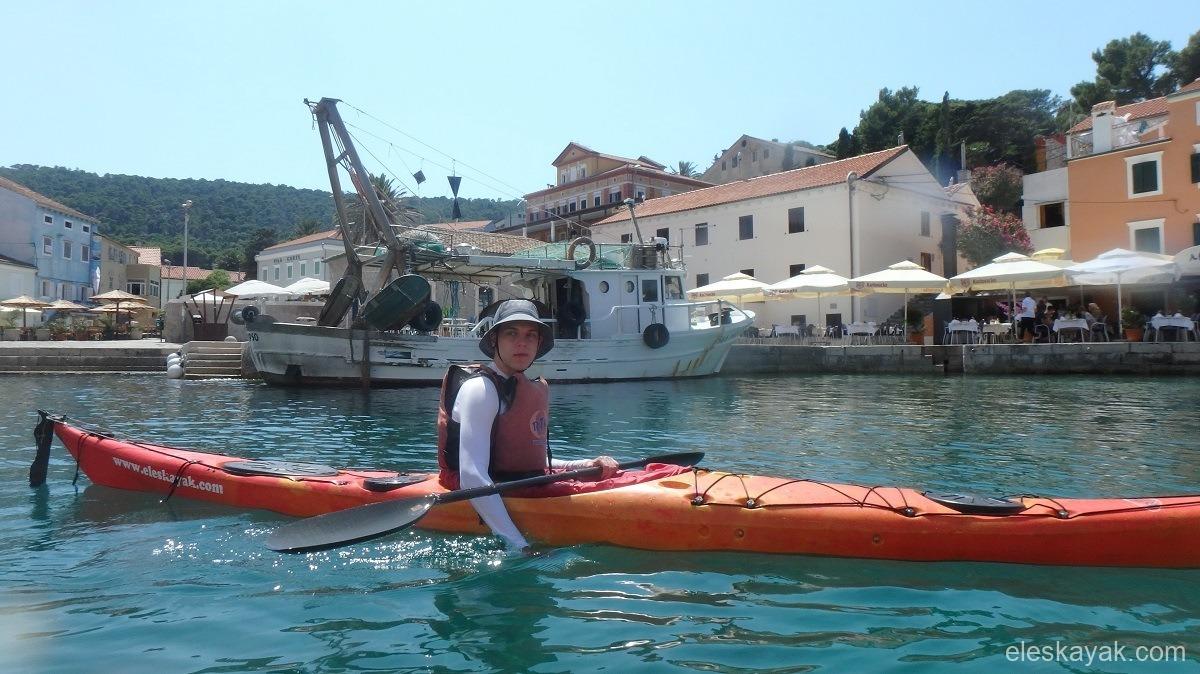 Horvátország Losinj tengeri kajak