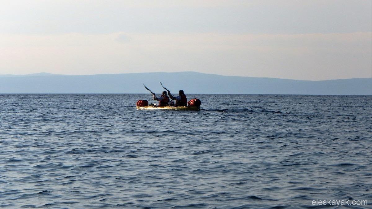Tengeri kajak Horvátország Rab sziget