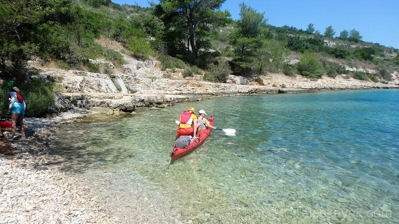 Tengeri kajak Horvátország, Hvar sziget